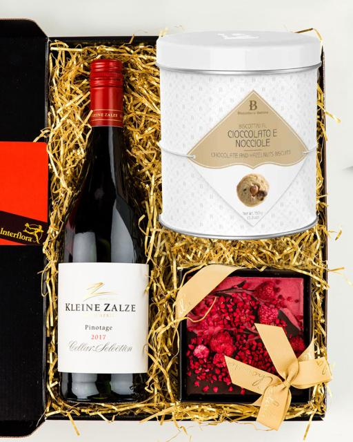 Kleine Zalze Pinotage Cellar vein, vaarika ja tumeda šokolaadi tahvel, gurmeeküpsised