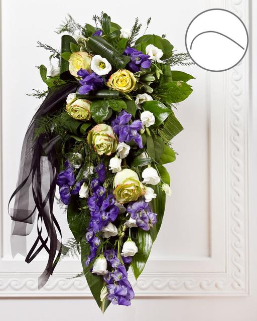 National Funeral Bouquet with Ribbon