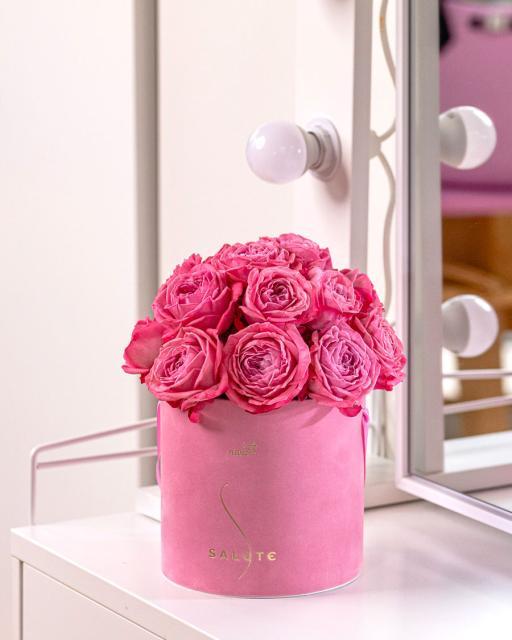 Принцесса розового сада, розовая бархатная коробка
