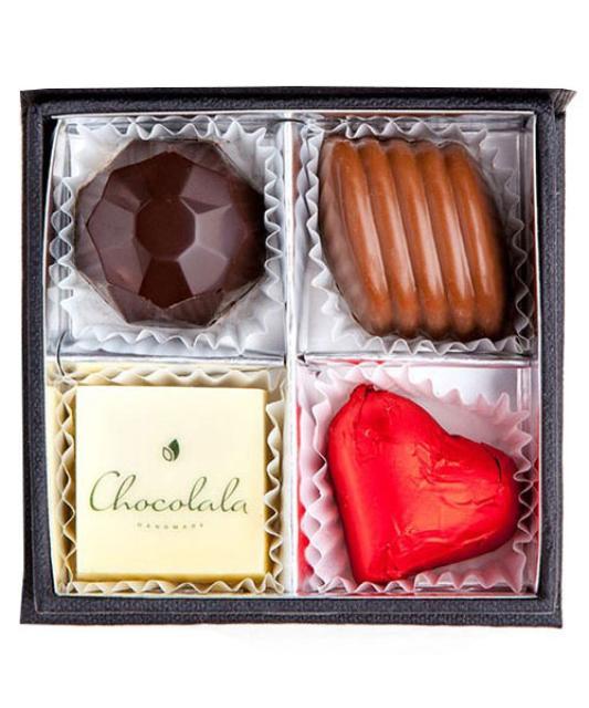 4 handmade chocolates