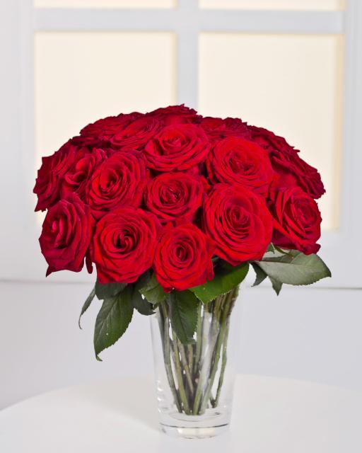 Kimp 15 punase roosiga