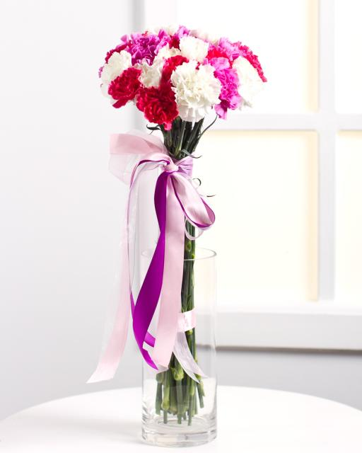 Colourful Bouquet with Carnations