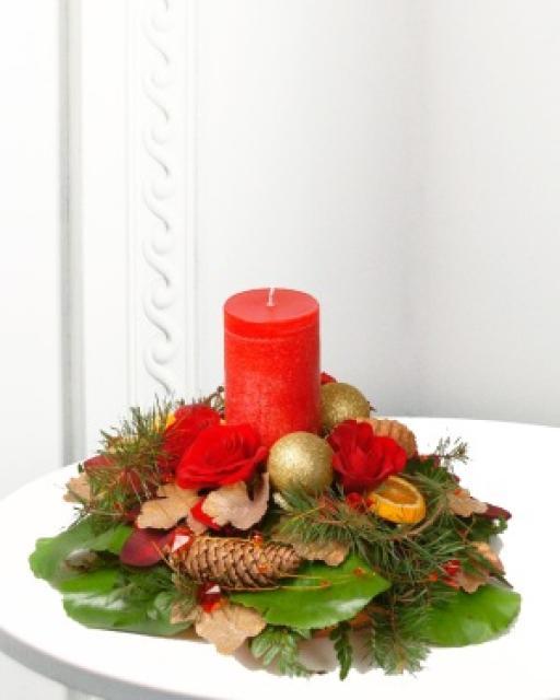 Traditsiooniline jõuluseade küünlaga